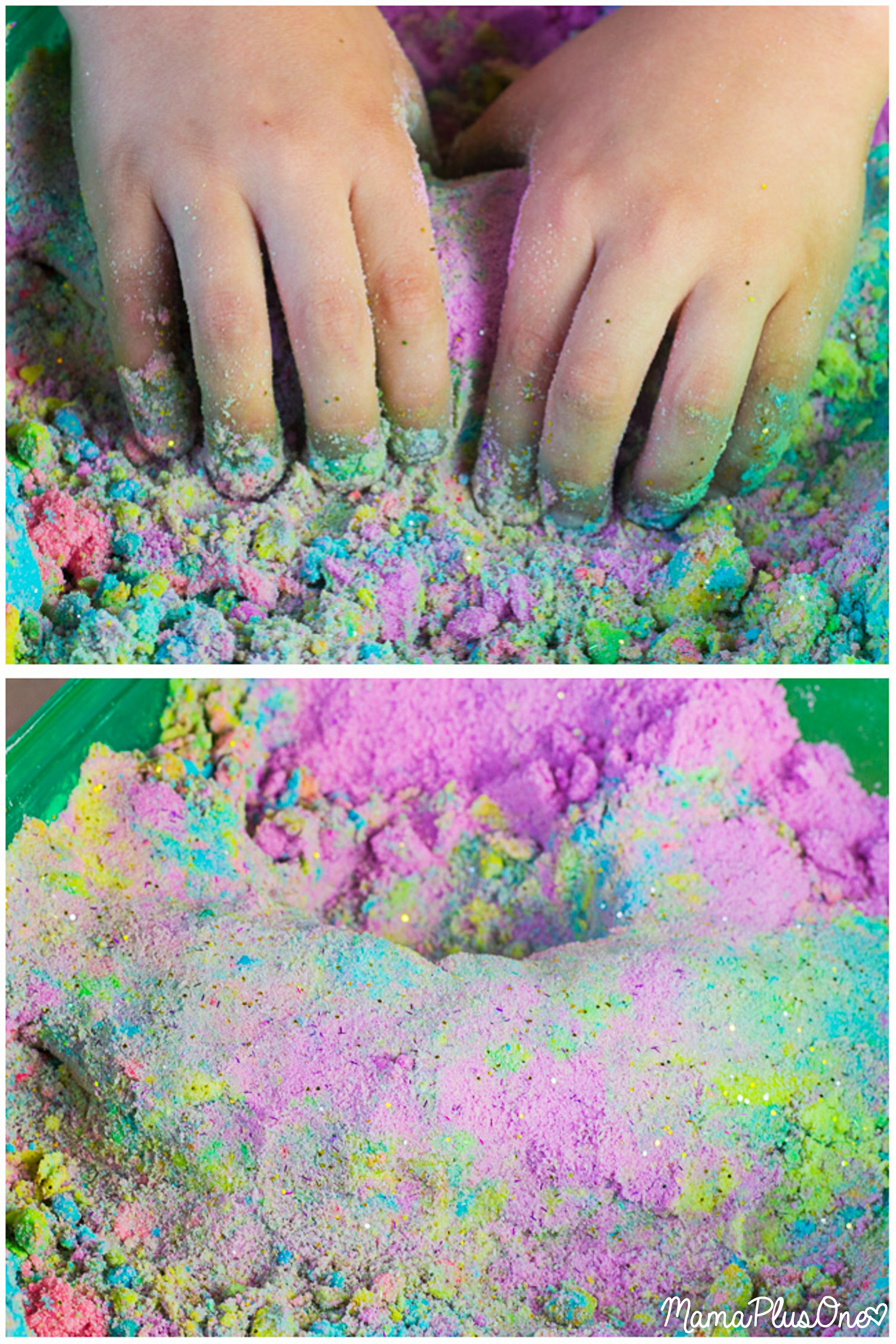 Unicorn kinetic sand tutorial how to make this vibrant sensory toy unicorn kinetic sand tutorial how to make this vibrant sensory toy at home solutioingenieria Image collections